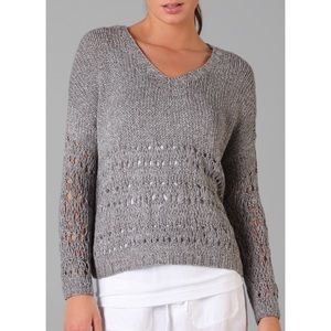 Vince hand knit wide cropped sweater